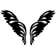 angel wings - stock illustration