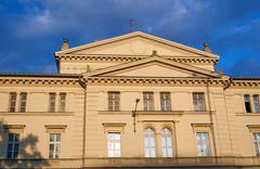 The facade of the building Arcadia - stock photo
