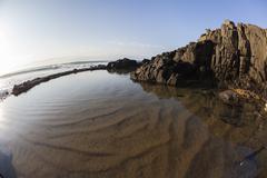 Beach Tidal Pool Stock Photos