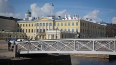 Bridge and presidential palace - stock footage
