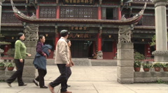 Ancient Buddhist Temple, Wushu, China Stock Footage