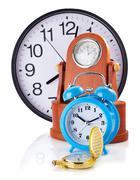 Clock set isolated on white Kuvituskuvat