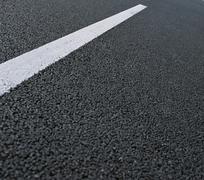 asfalt road - stock photo