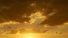 Golden hours sun set south france clouds stopmotion sky Stock Footage