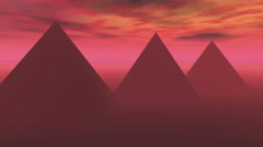 4k A spectacular sunrise timelapse of the famous pyramid in Egypt,sunlight rays Stock Footage