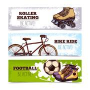 Summer Sport Banners Stock Illustration