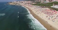 São Pedro de Moel aerial view Stock Footage