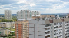 City landscape of district Zelenograd in Moscow Russia, timelapse Stock Footage