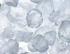 Background of blue ice cubes Stock Photos