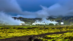 4K TimeLapse. Geothermal power - power plants that generate electricity... Stock Footage