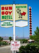 Bun Boy Motel Baker - stock photo