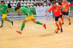 Azerbaijan team (G) and MGKFS team (O) - stock photo