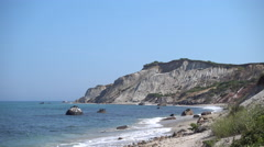 Gay Head Cliffs at Aquinnah Stock Footage