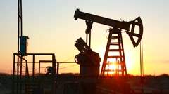 Drilling of the well. Kind from a top of rig.Oil and gas industry. Work of old o Stock Footage