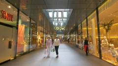 Shopping at Salvator Passage in Munich Stock Footage