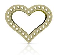 Vector marquee heart symbol - stock illustration