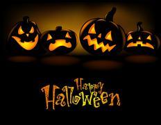Grinning Halloween lantern Stock Illustration