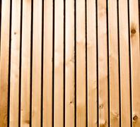 Cedar wooden plank vertical - stock photo