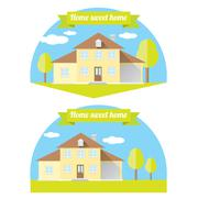 Vector house illustration. home sweet home Stock Illustration