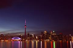 City scape at night of Toronto, Canada Stock Photos
