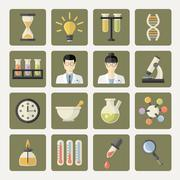 Vector Science and research Web Icons Piirros