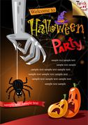 Halloween Poster. Vector illustration. Stock Illustration
