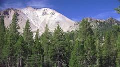 Lassen Volcanic National Park ,peak pan left Stock Footage