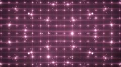 Disco pink spectrum lights concert spot bulb. - stock footage