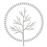 Abstract stylized round art tree Stock Illustration