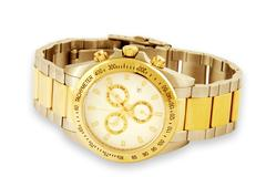 Gold watch over white background Stock Photos