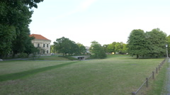Beautiful mansion in the English Garden in Munich Stock Footage