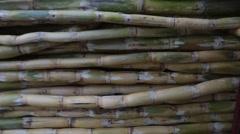 Sugarcane juice vendor at work - stock footage