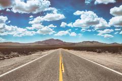Desert Road Empty Stock Photos