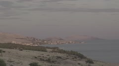 Landscape of a small Croatian town with sea Stock Footage