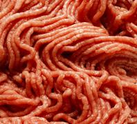 Fresh raw minced meat background - stock photo