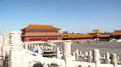 Forbidden City courtyard, Imperial Way Stock Footage