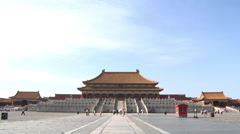 Imperial Palace, Forbidden City, China Stock Footage