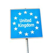 Stock Photo of Border sign of united kingdom, europe
