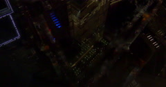 Night view on New York City from top of the World Trade Center Stock Footage