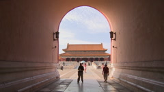 Gate of Supreme Harmony, Forbidden City Stock Footage