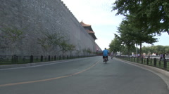 Forbidden City Wall, Beijing, China Stock Footage