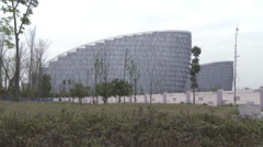 Chinese modern architecture, Chengdu, China Stock Footage