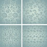 Stock Illustration of Retro Pattern Set