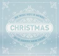 Stock Illustration of Christmas greeting card background. vintage ornament decoration