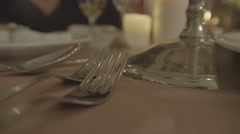 Table set close up Stock Footage