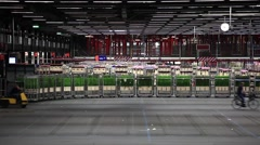 Auction floor at Aalsmeer's FloraHolland flower auction Stock Footage