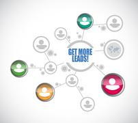 Get More Leads people diagram network sign Stock Illustration