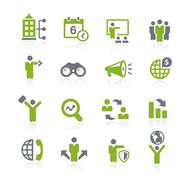 Business Opportunities Icons // Natura Series Stock Illustration