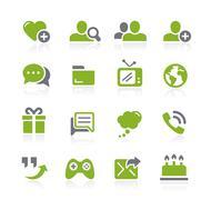 Social Communications Icons // Natura Series Stock Illustration