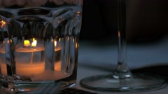 Decorative candle Stock Footage